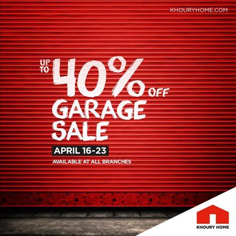 عروض خورى هوم لبنان Enjoy up to 40% on all categories خلال الفتره 16 أبريل حتى 23 أبريل - 1 صوره